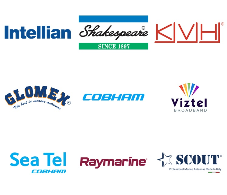 Спутниковое оборудование Intellian, KVH, Raymarine, Sea Tel, Viztel, Glomex, Shakespeare, Cobham, Scout
